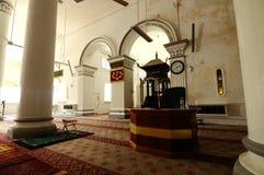 Inre av Abidin Mosque i Kuala Terengganu, Malaysia Arkivfoto