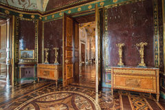 Inre av agatrum i kallt bad för byggnad i Tsarskoye Selo Arkivbild