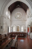 Inre av all den Sanka anglikanska kyrkan i det Galle fortet i Sri Lanka Arkivbilder