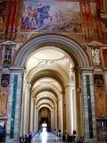 Inre av Archbasilicaen av St John Lateran, Rome, Italien Royaltyfria Bilder