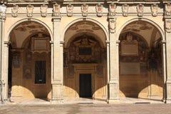 Archiginnasioen av bolognaen Arkivbild