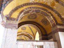 Inre av Aya Sofya & x28en; Hagia Sofia& x29; Arkivfoton