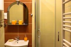 Inre av badrummen arkivfoton