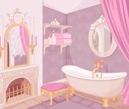 Inre av badrummet i slotten Royaltyfri Foto