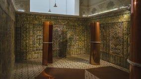 Inre av Bardo det nationella museet i Tunis tiles traditionellt fotografering för bildbyråer