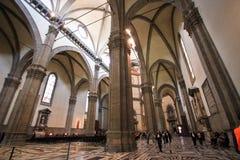 Inre av basilikan av Santa Maria Novella Royaltyfria Bilder