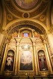 Inre av basilikan Nuestra Senora de Merced i Cordoba huvudstad, Argentina Arkivfoto