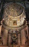 Inre av basilikan av Santa Maria Maggiore, Bergamo Arkivfoto