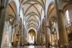 Inre av basilikan Santa Maria Novella Arkivfoton