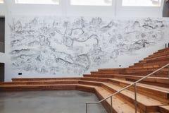 Inre av Berkeley Art Museum och det Stillahavs- filmarkivet Arkivbilder