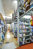 Inre av bokförvaringsrummet Arkivbild
