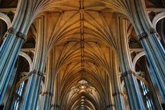 Inre av Bristol Cathedral England fotografering för bildbyråer