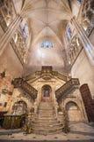 Inre av Burgos för berömd gränsmärke den gotiska domkyrkan Fotografering för Bildbyråer