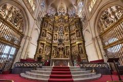 Inre av Burgos för berömd gränsmärke den gotiska domkyrkan Royaltyfri Fotografi