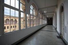 Inre av byggnaden av den Wien arsenalen - museum av militär historia Wien Österrike, Europa royaltyfri foto