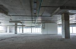 Inre av byggnaden under konstruktion Arkivbilder