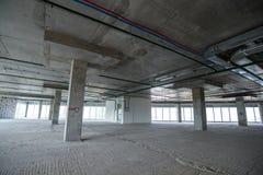 Inre av byggnaden under konstruktion Royaltyfri Bild
