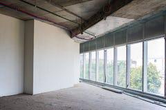 Inre av byggnaden under konstruktion Royaltyfria Foton