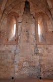Inre av Castel del Monte, Apulia, Italien Arkivbilder