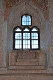 Inre av Castel del Monte, Apulia, Italien Royaltyfri Bild