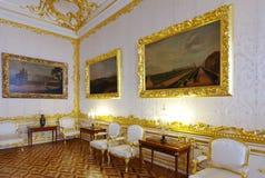 Inre av Catherine Palace Royaltyfri Fotografi