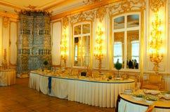 Inre av Catherine Palace i Tsarskoye Selo Pushkin Royaltyfria Bilder