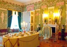 Inre av Catherine Palace i Tsarskoye Selo Pushkin Arkivbilder
