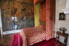 Inre av Chateau de Chenonceau, Vallee de la Loire, Frankrike Arkivbild