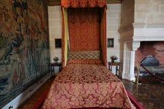 Inre av Chateau de Chenonceau, Vallee de la Loire, Frankrike Royaltyfria Bilder