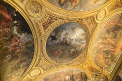 Inre av chateauen de Versailles (slotten av Versailles) Royaltyfri Bild
