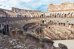 Inre av Colosseum i Rome Royaltyfri Bild