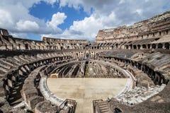 Inre av Colosseumen Arkivbilder