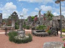 Inre av Coral Castle i Florida, USA Royaltyfria Bilder