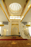 Inre av Crystal Mosque i Terengganu, Malaysia Royaltyfria Bilder