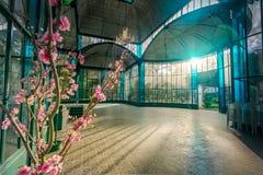 Inre av Crystal Palace eller Palacio de Cristal - Petropolis, Rio de Janeiro, Brasilien arkivbild