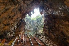 Inre av de Batu grottorna Kuala Lumpur, Malaysia Arkivfoto