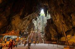 Inre av de Batu grottorna Kuala Lumpur, Malaysia Arkivfoton