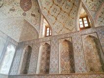 Inre av den Ali Qapu slotten Isfahan Iran royaltyfri bild