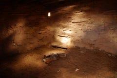 Inre av den Anasazi puebloen Fotografering för Bildbyråer