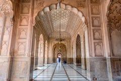 Inre av den Badshahi moskén, Lahore, Punjab, Pakistan Fotografering för Bildbyråer