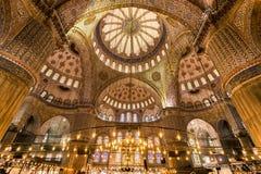 Inre av den blåa moskén Fotografering för Bildbyråer