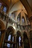 Inre av den Canterbury domkyrkan. Arkivfoton