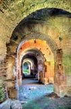 Inre av den Capua amfiteatern Arkivbild