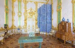 Inre av den Catherine slotten Arkivbild