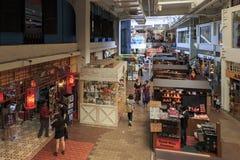Inre av den centrala marknaden grundade i 1888, också bekant som den Pasar Seni marknaden, en av arvbyggnaderna i Kuala Lumpur Royaltyfria Bilder