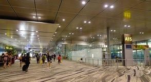 Inre av den Changi flygplatsen i Singapore Royaltyfri Bild