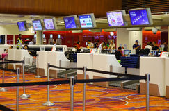 Inre av den Changi flygplatsen i Singapore Royaltyfria Foton