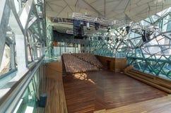 Inre av den Deakin kantteatern i Melbourne Royaltyfri Bild