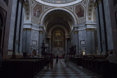 Inre av den Esztergom basilikan, Esztergon, Ungern - 8, 2017 Fotografering för Bildbyråer