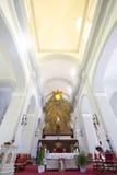 Inre av den evangeliska domkyrkan, Ciudad Bolivar, Venezuela Arkivbild